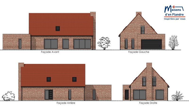 Plan de coupe maisons d 39 en flandre maisons d 39 en flandre - Plan de coupe maison ...