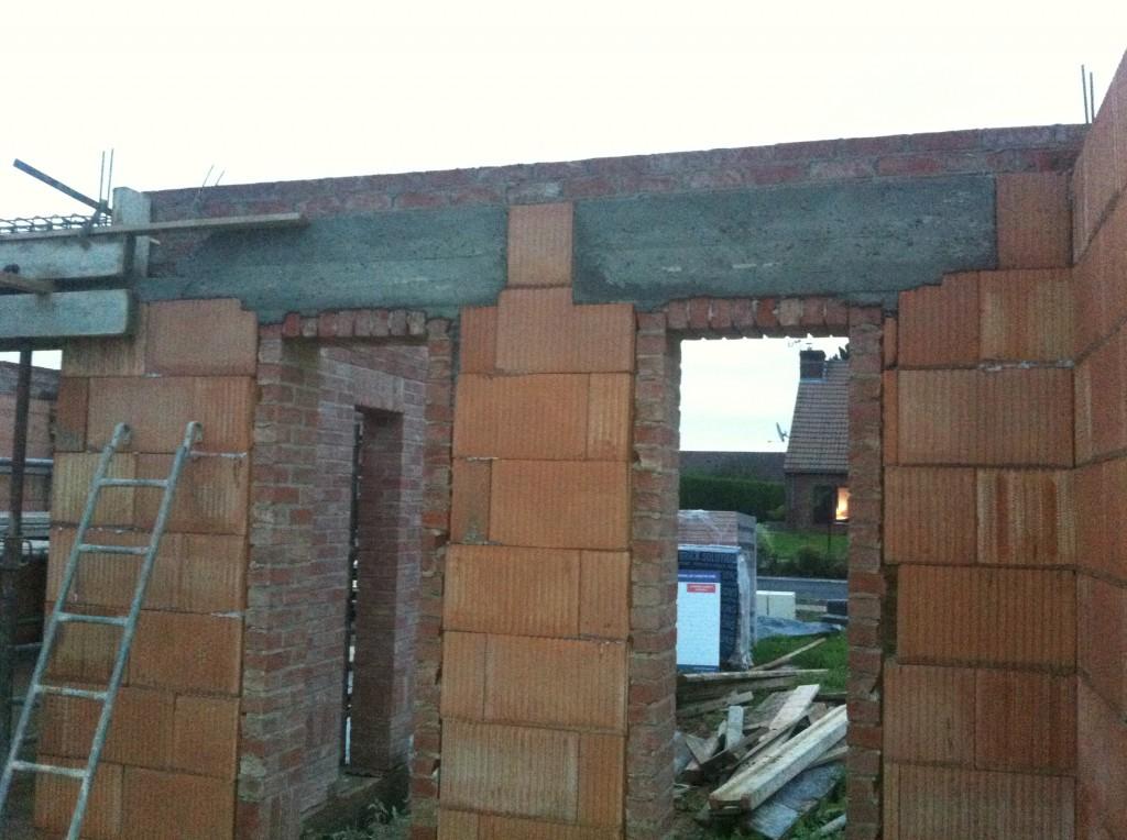 Coffrage et pr paration pour plancher tage maison - Maison en beton arme ...