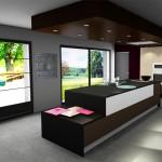 Vue 3D de notre cuisine avec SOS aménagement