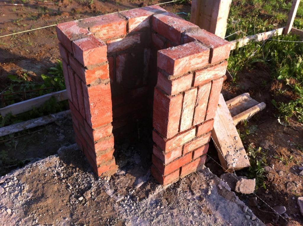 Reprise des travaux et livraison des briques cayenne mihdf - Baie vitree d angle ...